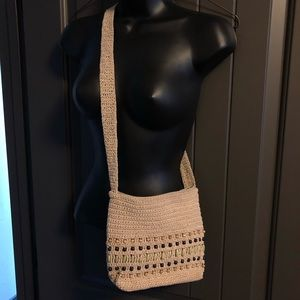 Carlo D'Santi Shoulder Bag w/ Crochet & Bead Work